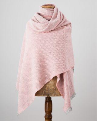AVOCA Nest Gracie Stola X'S und O'S, Pink/Grau, Merino
