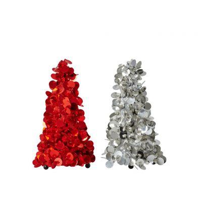 RICE Glitzerbäumchen Pailletten Dekobaum 2 verschiedene Farben