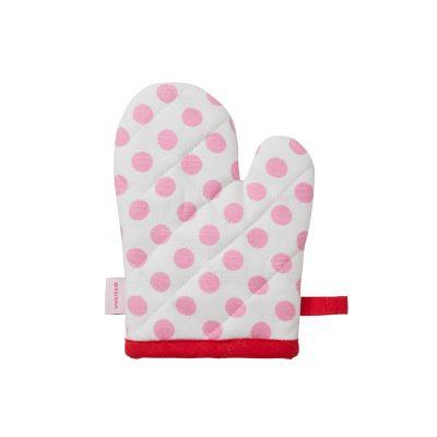 RICE Kinder Ofenhandschuhh Baumwolle Kussmund/Kiss und Punkten, soft Pink