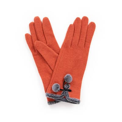 "Powder Design Handschuhe ""Betty"" Tangerine/Mandarine - One Size"