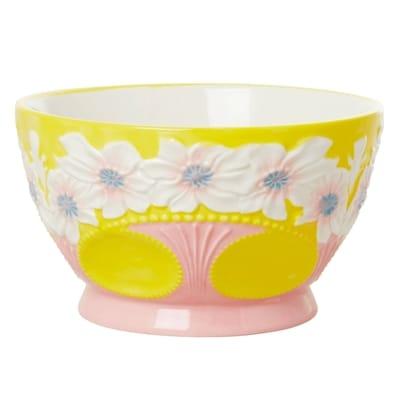 RICE Keramik Schale, Ceramic Bowl, Yellow, Gelb