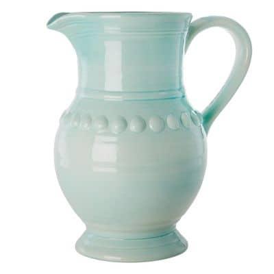 RICE Keramik Kanne, groß XL, eisblau