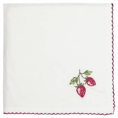 Greengate Stoffservietten Napkin Strawberry/Erdbeeren Red 40x40 cm
