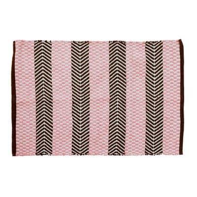 RICE Läufer, Teppich Chevron Muster, handmade - recycelt