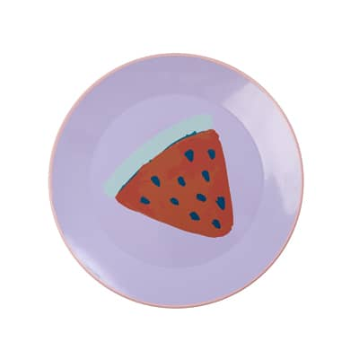 RICE Emaille Lunch Teller Lavendel Watermelon/Wassermelone