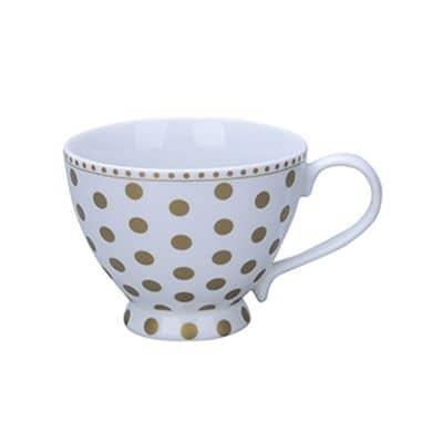 Krasilnikoff Happy Chic Cup, Golden Dots