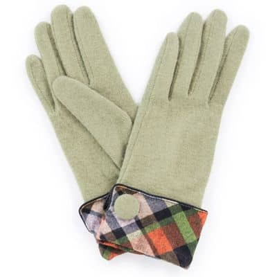 Powder Design Damen Handschuhe Heather, Pea Green/Erbsengrün, One Size