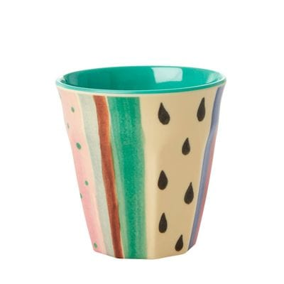 RICE Melamin Becher Louises Stripe Print