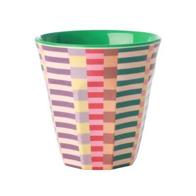 RICE Melamin Becher Summer Stripes Print,