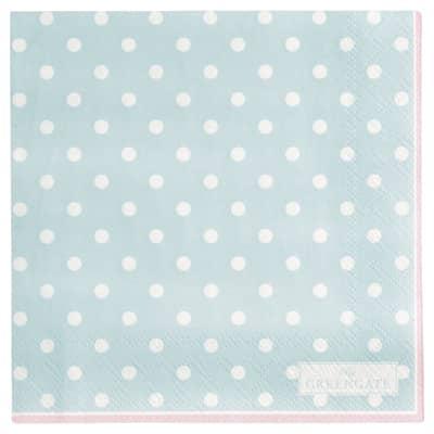 Greengate Papierservietten Napkin Spot Pale Blue klein 20 Stk