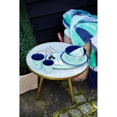 RICE Melamin Becher Blue Floral Print