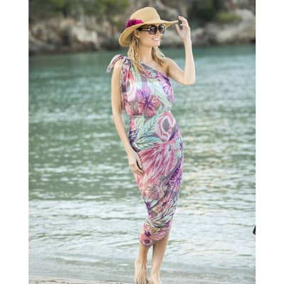 Powder Design Sarong, Strandkleid Flamingo