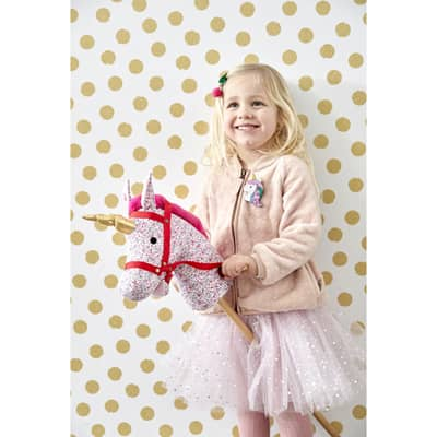RICE Kinder Tüllrock Tütü Super Soft Pink/Silver Dots