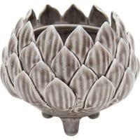byroom Keramik Blumentopf, Lotusblüte, Braun