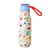 RICE Stainless Steel Drinking Bottle with Selmas Flower Print - 12H Hot / 24H Cold