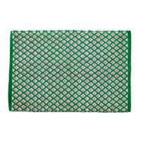 RICE Läufer Teppich Harlekin Muster, handmade - recycelt