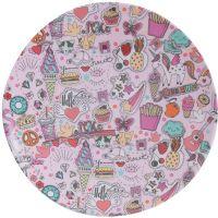 Overbeck and Friends, Melamin Dessert-Teller, Streetart Girls