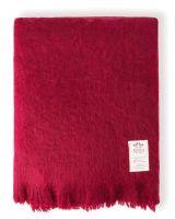 AVOCA Nest Mohair Decke Ruby, Rubinrot