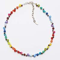 Polarisperlen Kette kleine Perlen Sommerfarben