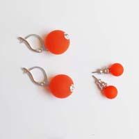 Polarisperlen Stecker Ohrring Orange