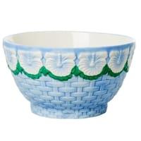 RICE Keramik Schale, Ceramic Bowl, Blue, Blau