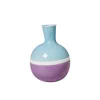 "RICE Portugal Keramik Vase ""Two Tone"" Lila/Blau"