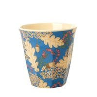 RICE Melamin Becher Autumn and Acorns Print