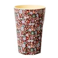 RICE Melamin Macchiato Becher, Latte Cup Fall Floral Print, Streublumen, Follow the call of the Disco ball