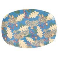 RICE Melamin Tablett, oval, Autumn and Acorns Print