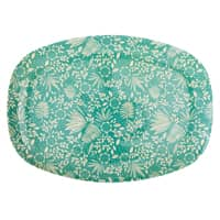 RICE Melamin Tablett oval, Fern and Flower Print