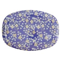 RICE Melamin Tablett oval, Hanging Flower Print