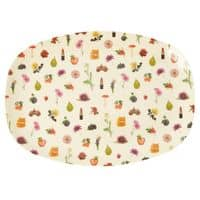 RICE Melamin Tablett, oval, Lipstick Fall