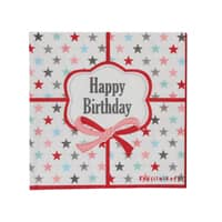 Krasilnikoff Papier Servietten Happy Birthday, 33x33 cm