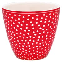 Greengate Becher Latte Cup Dot Red