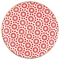 Greengate Plate Kelly Red W/Gold