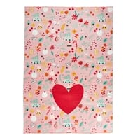 RICE Geschirrtuch, Baumwolle, Cotton Tea Towel, All Over Christmas Print, Weihnachtsedition, Neon Piping