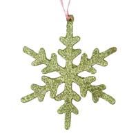 RICE Weihnachtskristall Stern Grün